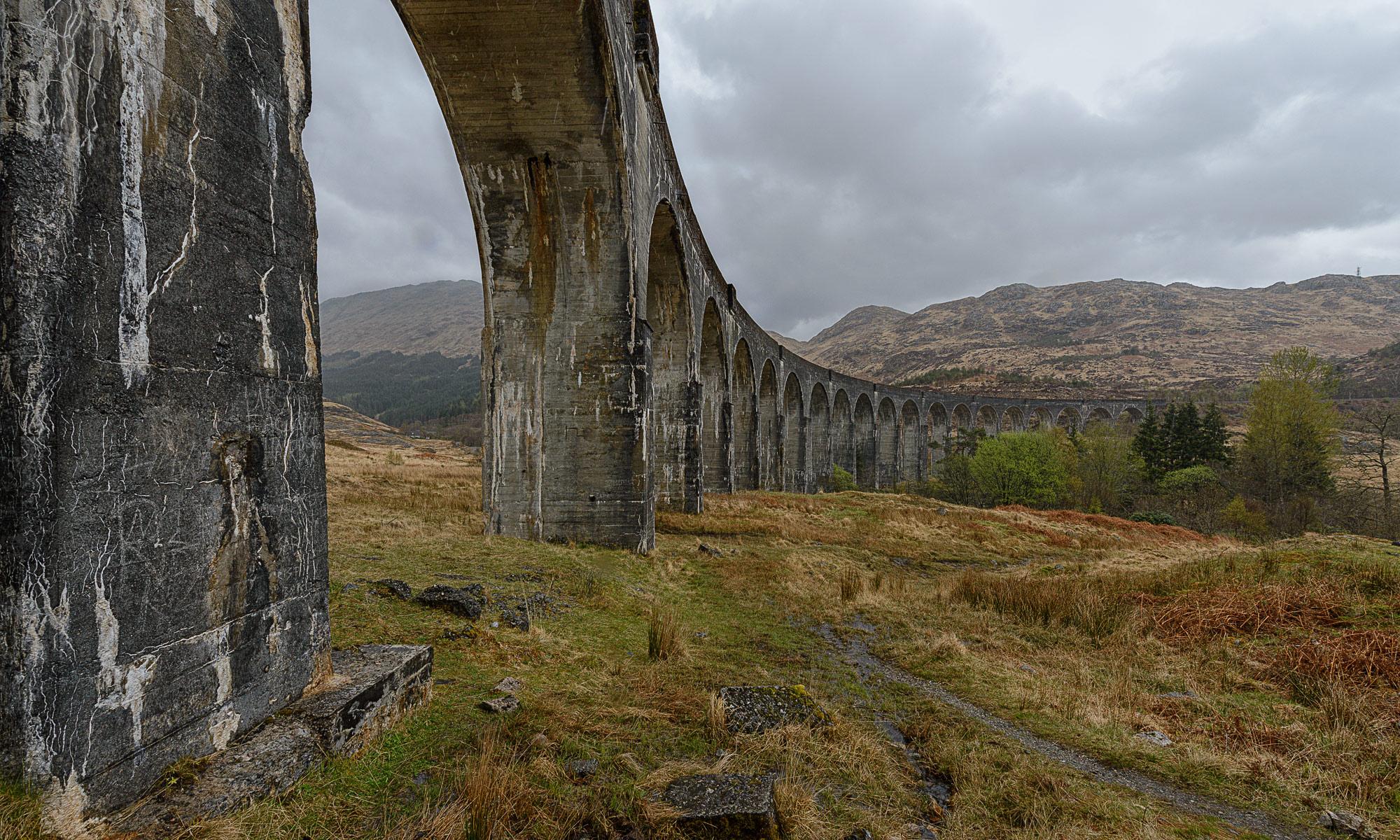 Glenfinnan-Viadukt, Viaduct, Eisenbahnviadukt, West Highland Line